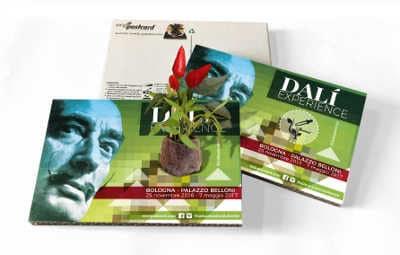 EcoPostcard Dalì con piantina