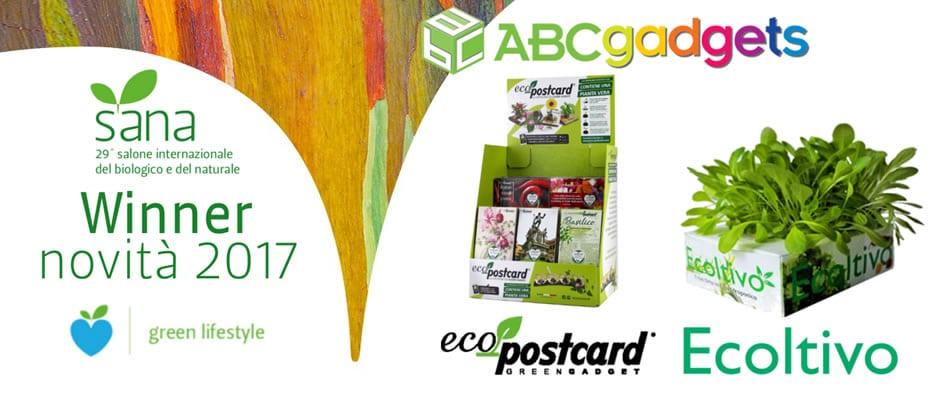 Eco-Postcard e Ecoltivo Winner Novità Sana 2017