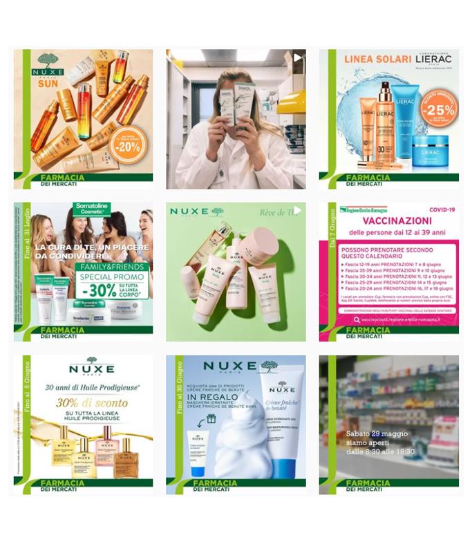 Feed Instagram Farmacia dei Mercati