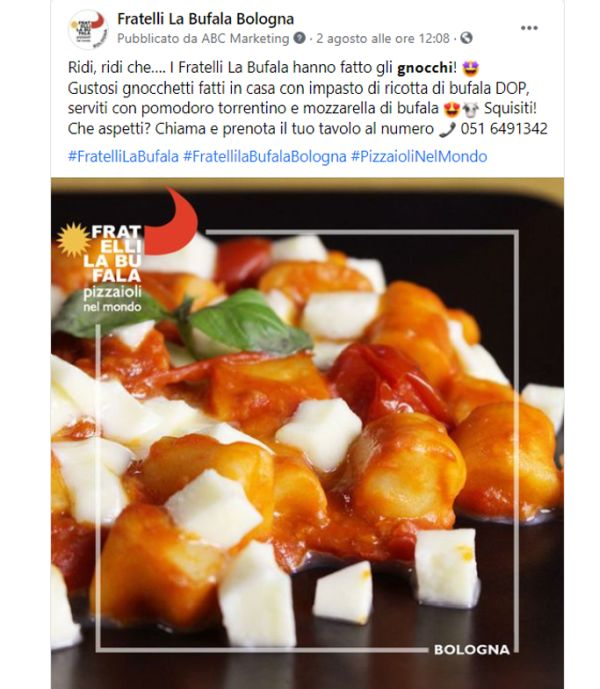 Post facebook Fratelli la Bufala